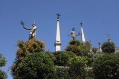 Jardins de palais de Borromeo sur Isola Bella, Stresa photographie stock
