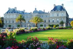 Jardins de Pariis. The amazing gardens in the Parisian park Royalty Free Stock Images