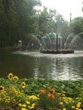 Jardins de Peterhof foto de stock