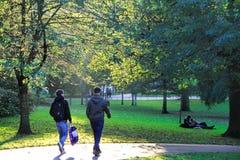 Jardins de rue de Pinces à Edimbourg, Ecosse, R-U Photo libre de droits
