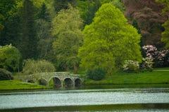 Jardins de Stourhead Images libres de droits