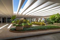 Jardins de terrasse de palais d'Itamaraty - Brasilia, Distrito fédéral, Brésil image stock