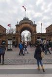Jardins de Tivoli de Copenhague images stock