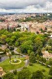 Jardins de Vatican Photographie stock