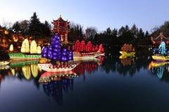 Jardins des jardins botaniques de Lumière-Montréal Photos stock