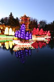 Jardins des jardins botaniques de Lumière-Montréal Photo stock