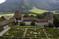 Jardins do castelo imagens de stock royalty free