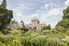Jardins do castelo de Cawdor em Escócia Imagem de Stock