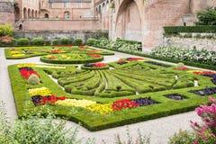 Jardins do palácio de Berbie em Alby, França fotos de stock