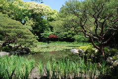 Jardins do santuário de Heian-Jing fotos de stock