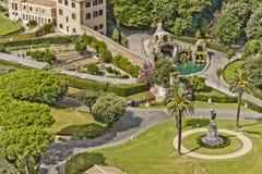 Jardins do Vaticano fotografia de stock