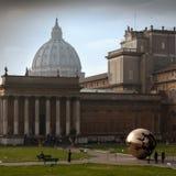 Jardins dos museus do Vaticano imagem de stock