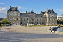 The Jardins du Luxembourg garden in Paris Royalty Free Stock Images