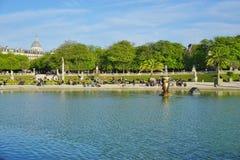 The Jardins du Luxembourg garden in Paris Stock Photography