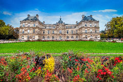 Jardins du Luxembourg, Paris, France in autumn. Royalty Free Stock Images