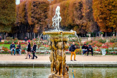 Jardins du Luxembourg, Paris, France in autumn. Royalty Free Stock Photography