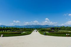 Jardins du palais de Venaria, Turin image stock