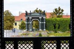 Jardins du palais impérial à Vienne photo libre de droits