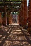 Jardins du théâtre romain dans M?rida Photos libres de droits