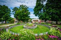Jardins em Dôvar do centro, New Hampshire fotografia de stock