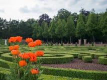 Jardins em Het Loo Palace, Países Baixos Imagem de Stock
