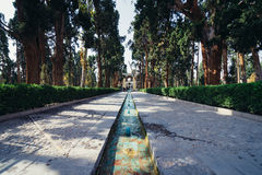 Jardins em Kashan imagens de stock royalty free