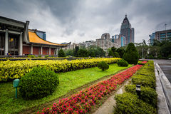 Jardins em Sun Yat-sen nacional Memorial Hall no Xinyi D Fotos de Stock Royalty Free