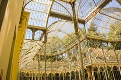 Jardins Espagne d'hiver de Madrid Photo stock