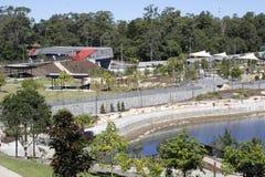 Jardins et au sol de pique-nique établis sur le chantier de construction de manière de legs Photos stock