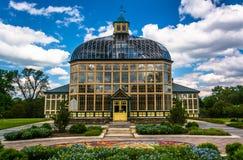 Jardins et Howard Peters Rawlings Conservatory dans le druide Hil photo stock