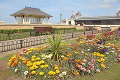 Jardins et kiosque à musique commémoratifs de baie de Herne Image libre de droits