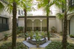 Jardins extérieurs du musée de Sorolla à Madrid, Espagne Images stock