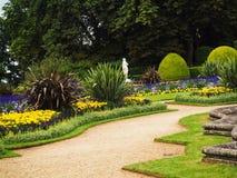 Jardins formais trajeto e beiras Imagem de Stock