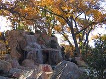 Jardins japonais dans l'automne tôt image stock