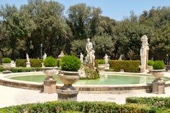 Jardins na casa de campo Borghese em Roma fotos de stock