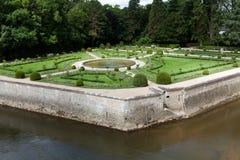 Jardins no castelo Chenonceau fotos de stock royalty free