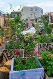 Jardins nomades de la Communauté dans Shoreditch, Londres, R-U Photos stock