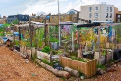 Jardins nomades de la Communauté dans Shoreditch, Londres, R-U Image libre de droits