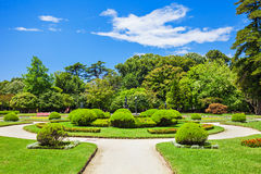 Jardins Palacio De Cristal Fotografia Royalty Free