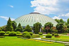 Jardins Palacio de Cristal Arkivfoton