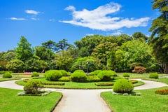 Jardins Palacio de Cristal Royalty Free Stock Photography