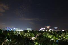 Jardins par la baie la nuit, Singapour Images libres de droits