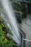 Jardins par la cascade Singapour de baie Images libres de droits