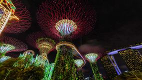 Jardins par le compartiment, Singapour Photos libres de droits