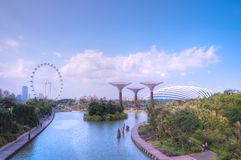 Jardins par le compartiment, Singapour Photo libre de droits