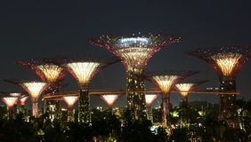 Jardins par le compartiment Singapour Photos libres de droits