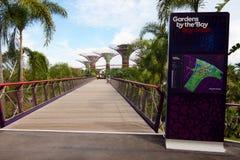 Jardins par le compartiment Singapour Image stock