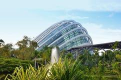 Jardins par le nuage Forest Dome de baie Image libre de droits