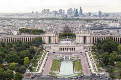 Jardins Paris de Trocadero Images libres de droits