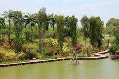 Jardins pela passagem da baía - Singapura Imagens de Stock Royalty Free